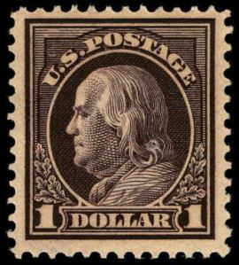 Benjamin Franklin postage stamp, Scott #423