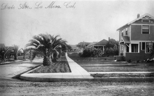 Date Avenue in La Mesa, ca. 1910