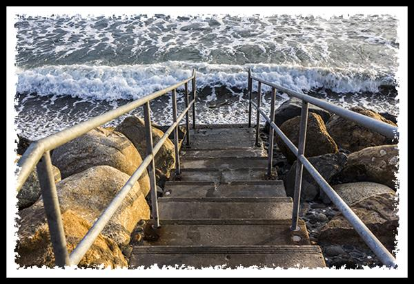 Stairs to the beach in Oceanside, California