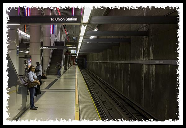 Red Line on the Metro subway in Los Angeles