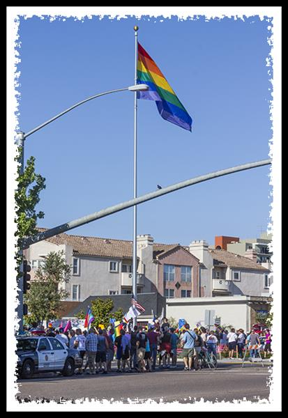 Marriage equality rally in Hillcrest, San Diego, California
