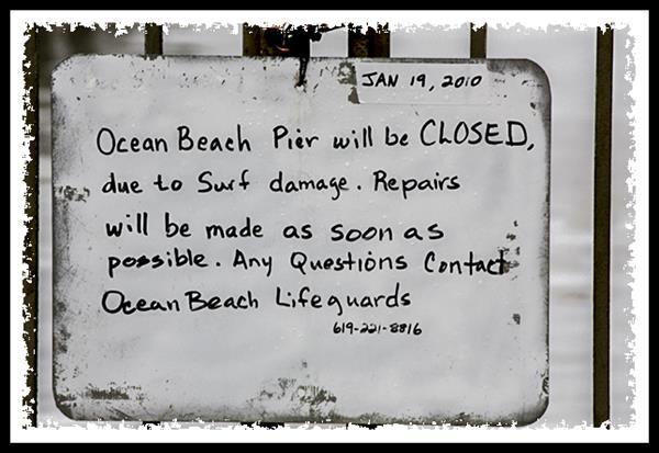 Ocean Beach pier closure notice