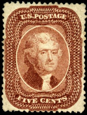 Scott #29 Thomas Jefferson