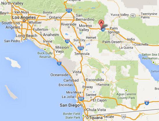 Location of Cabazon, California