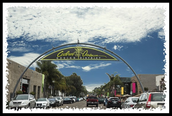 Cedros Avenue Design District in Encinitas, California