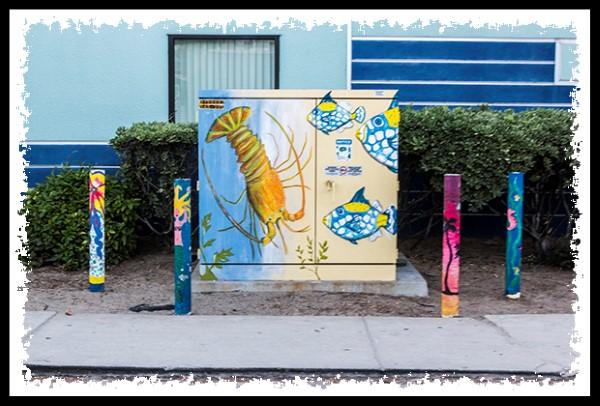 Street utility box at the beach