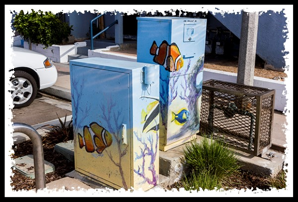 Street utility box at the beach
