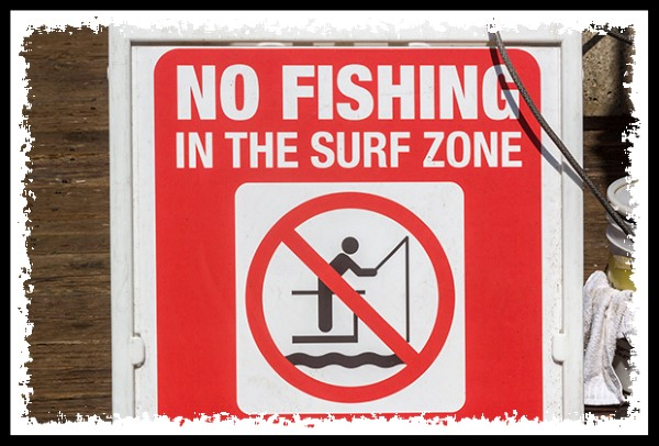 No fishing in the surf zone