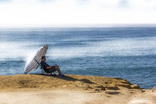 At Sunset Cliffs in Ocean Beach, California