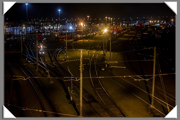 San Diego Trolley rail yard