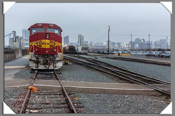 BNSF locomotive in San Diego