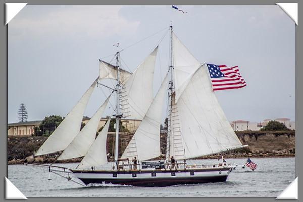 Tall Ship Parade at San Diego Festival of Sail