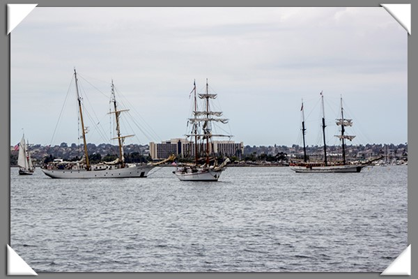 Tall ships in San Diego for the Festival of Sail
