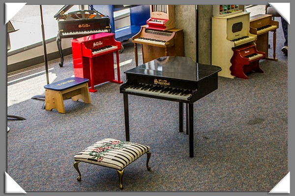 Toy pianos at the 13th annual toy piano festival in San Diego