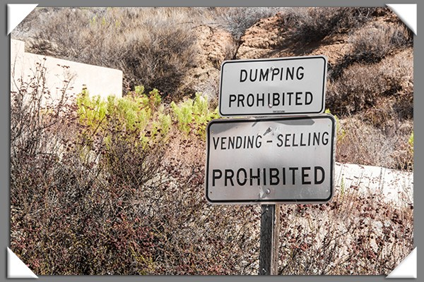 No dumping or selling