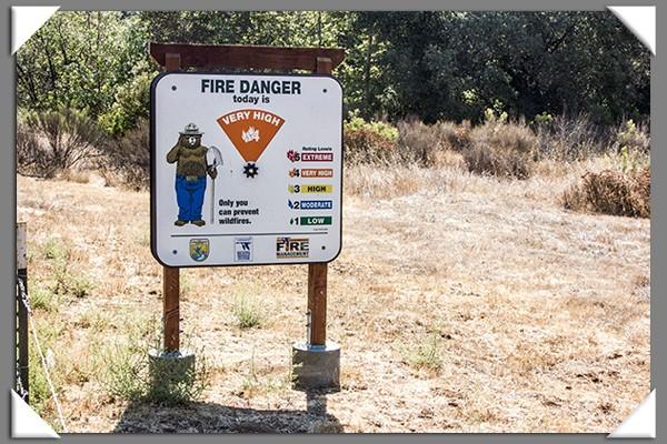 Fire danger in East San Diego County
