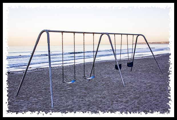 Swingset on the beach