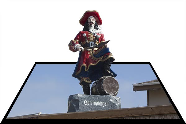 Captain Morgan, out of bounds