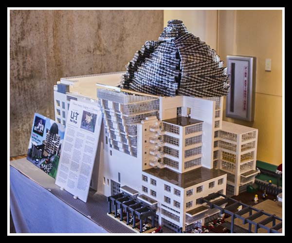 Lego model of the new San Diego Central Library, 2013