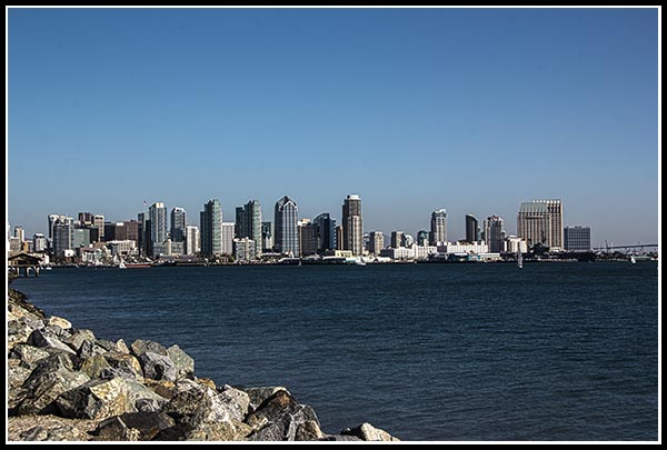 Downtown San Diego from Harbor Island
