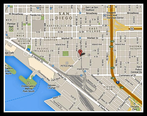 Location of new San Diego Central Library