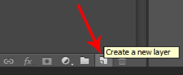 Create a new layer icon in Photoshop