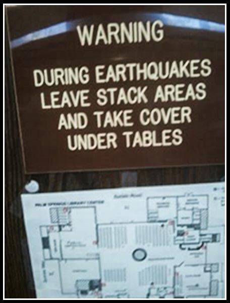 During earthquakes