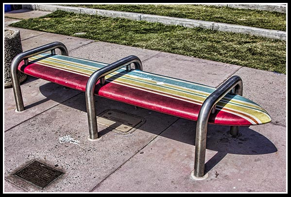 Bus bench in Imperial Beach, California