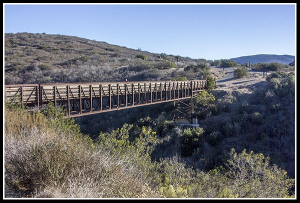Bridge to the Rim Trail in Mission Trails Regional Park in San Diego, California