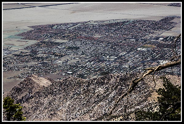 Palm Springs, California from the top of Mount San Jacinto