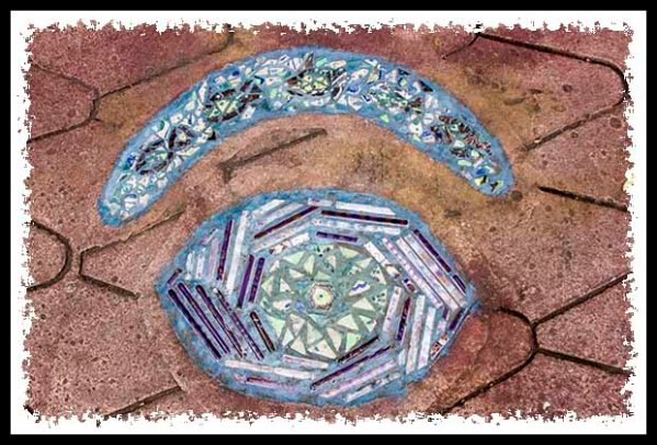 Walkway art at the Los Angeles County Arboretum & Botanical Garden