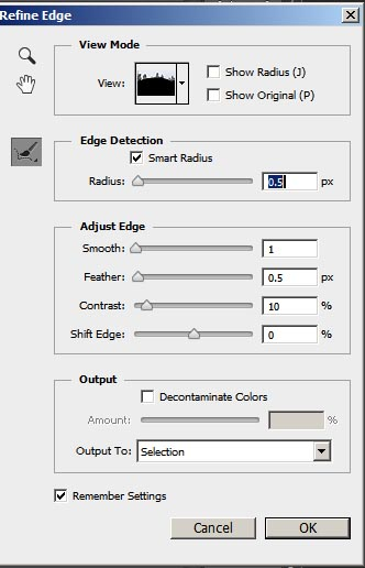 Refine Edge options