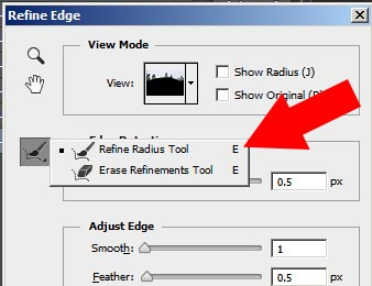 Refine Radius Tool