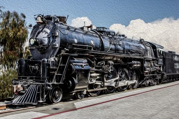 ATSF 3751 at Los Angeles at National Train Day in May 2012