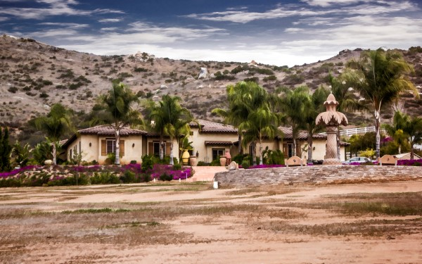 Mansion in the boondocks, San Diego County
