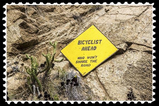Bicyclist ahead