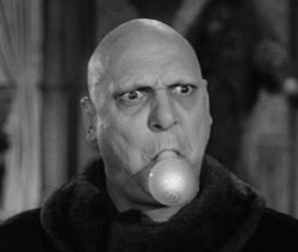 Uncle Fester with a bright idea