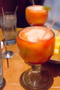 Margaritas at On The Border in El Cajon, California