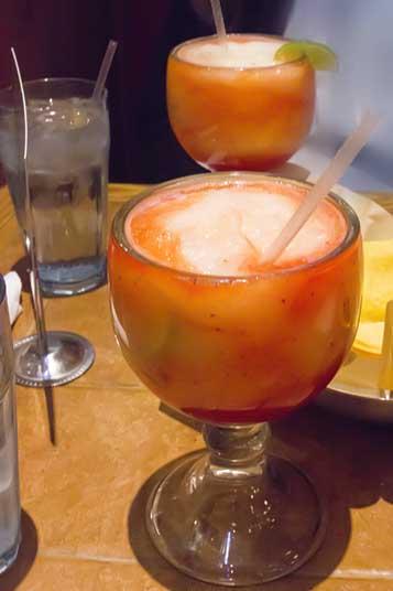 Margaritas at On The Border in El Cajon, California