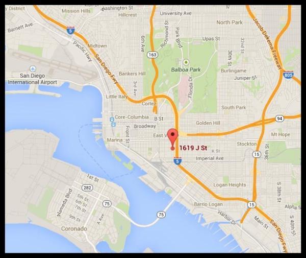 1619 J Street location map