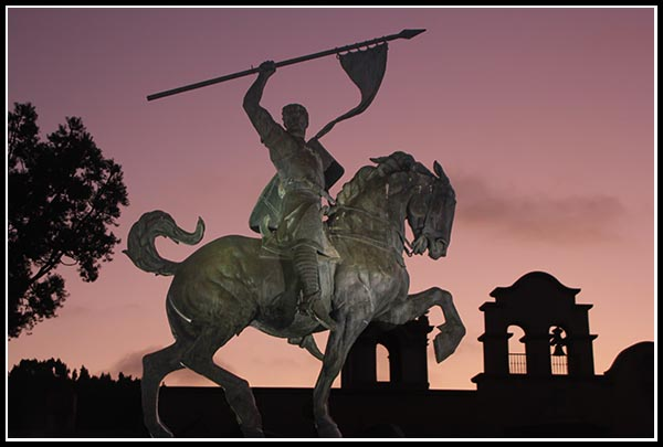 El Cid Campeador at sunset
