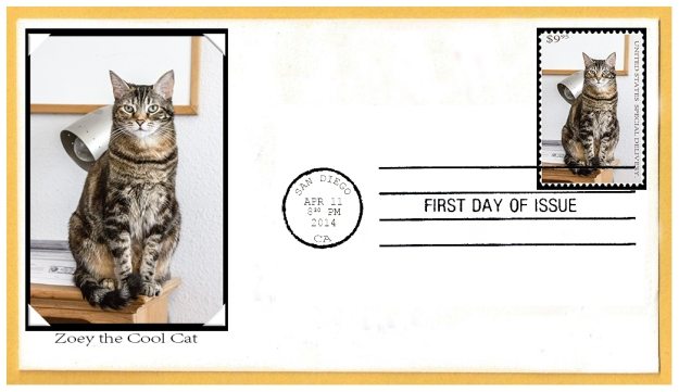 Zoey the Cool Cat First Day of Issue