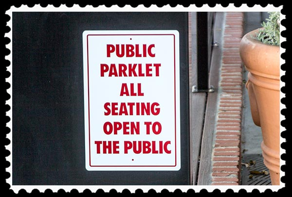 Parklet in North Park, San Diego
