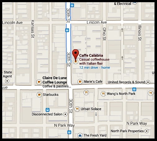 Parklet location map