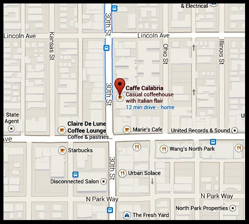 Parklet location map