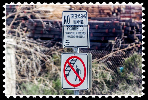 No trespassing, no dumping