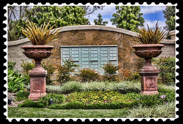 Mail delivery in Rancho Santa Fe California
