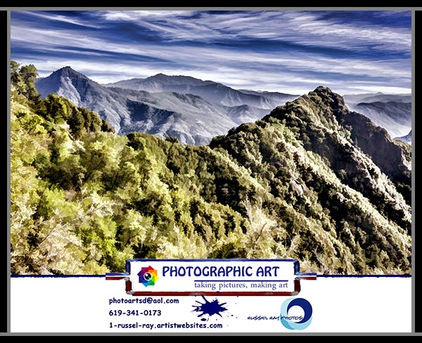 Deer Ridge in Sequoia National Park faa framed