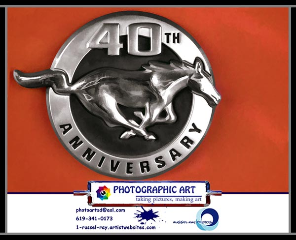 Mustang 40th Anniversary logo