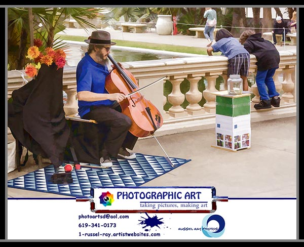 Starving artist in San Diego's Balboa Park
